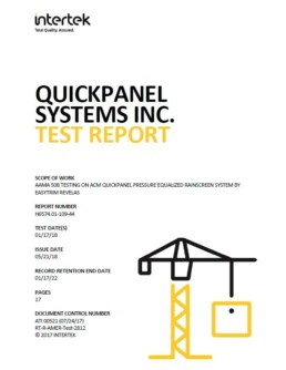 QuickPanel Systems Inc AAMA 508 Test Report