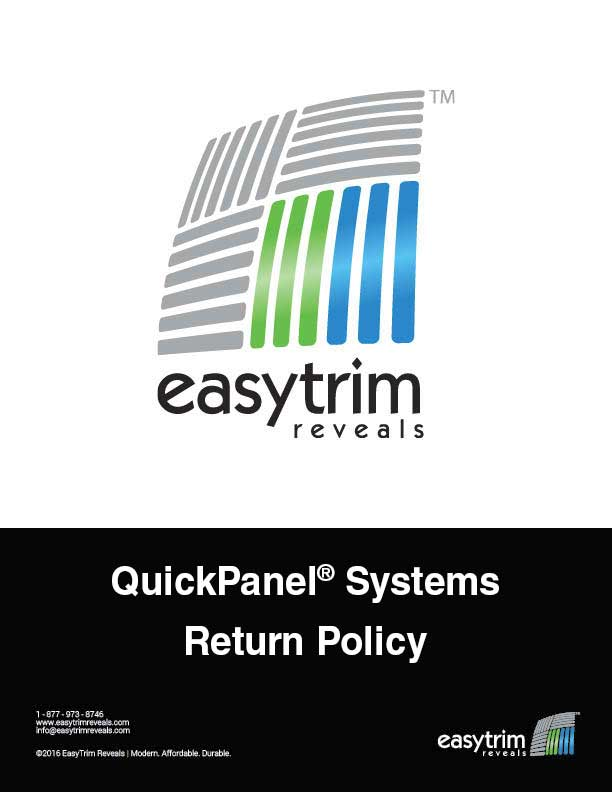 Icon QuickPanel Systems Return Policy